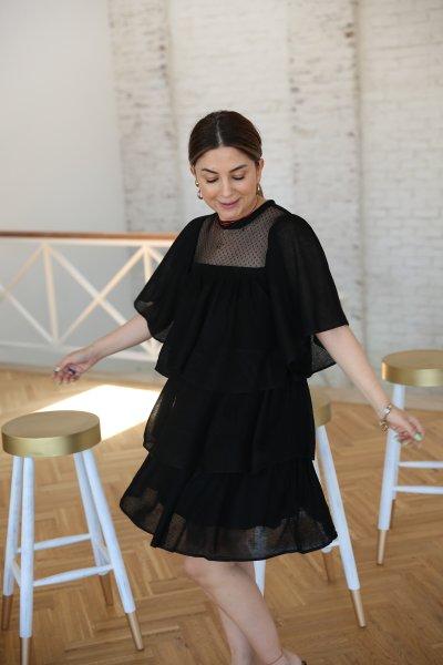 Yarasa Kol Kat Kat Elbise