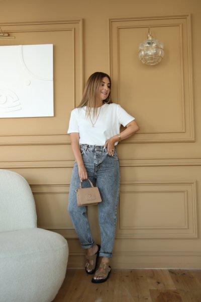Klasik Taşlanmış Jean