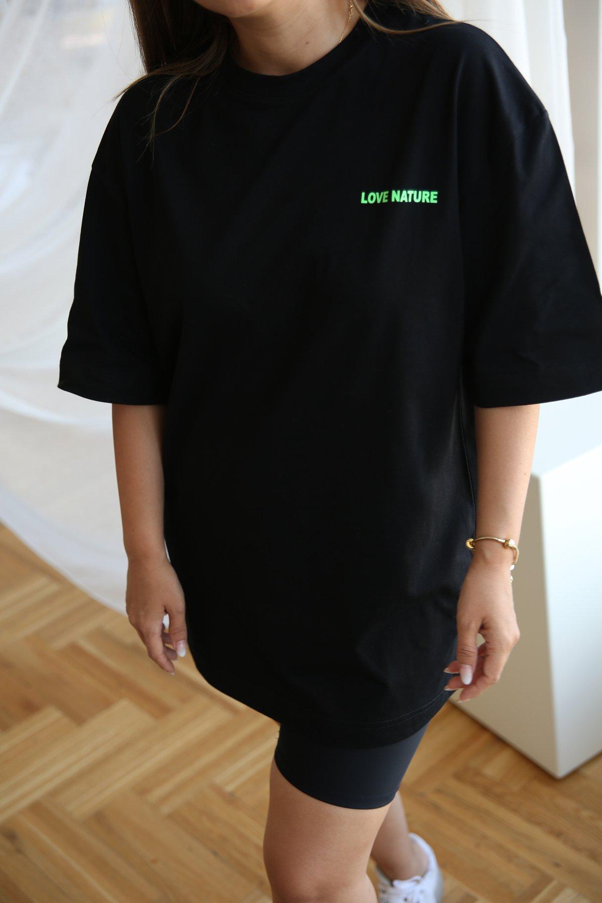 Love Nature Baskılı Tshirt