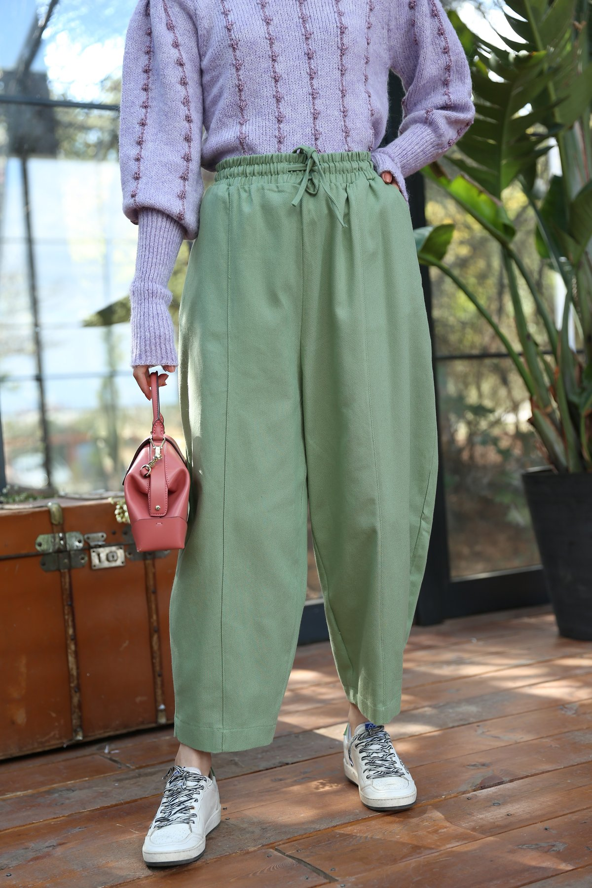 Gabardin Kumaş Şalvar Pantolon
