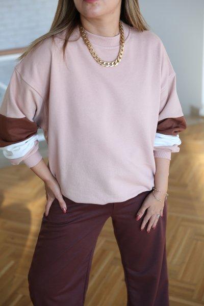 Kolları Renk Geçişli Sweatshirt