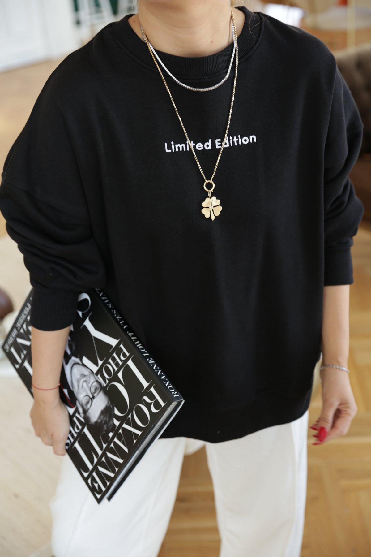 Limited Edition İşlemeli Sweatshirt