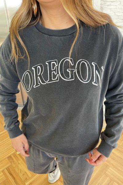 Oregon Yazı Baskılı Sweatshirt